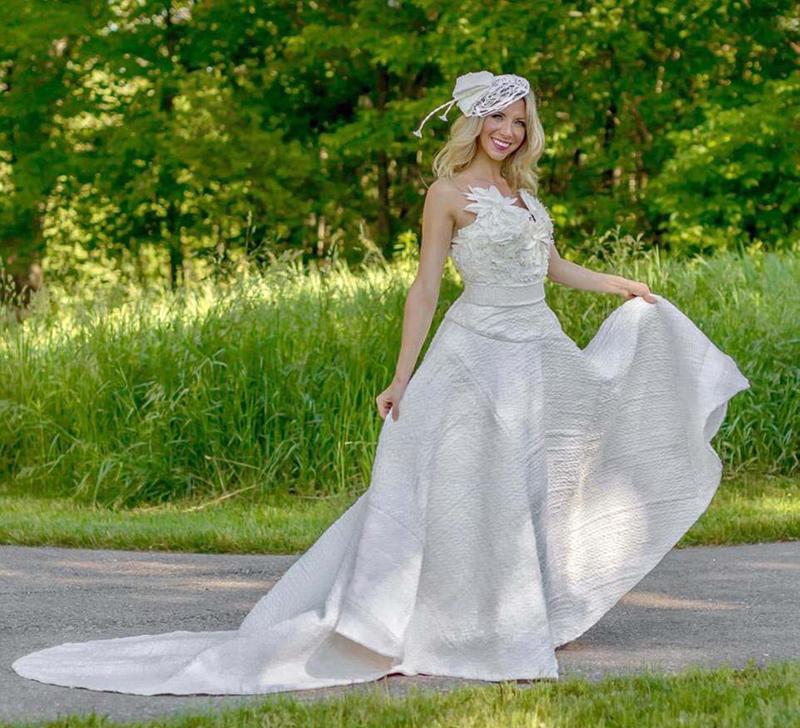 卫生纸婚纱大赛唯美作品惊艳全场