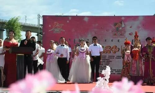 """兴和县举办首届""""七夕节""""集体婚礼"""
