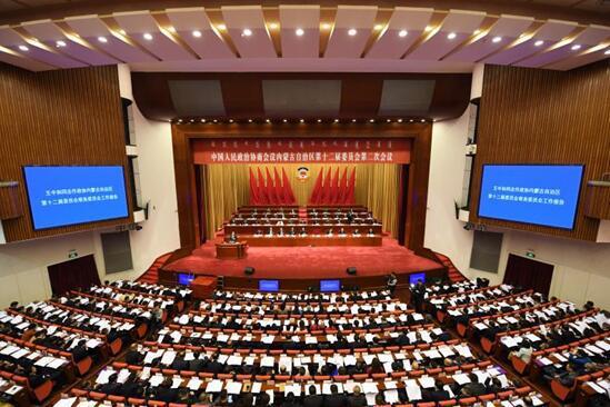 1月25日,自治区政协十二届二次会议在内蒙古人民会堂开幕。