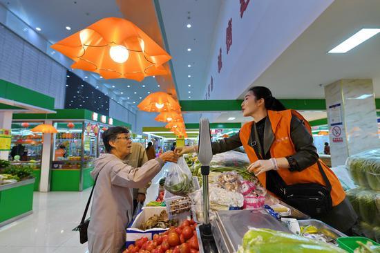 超市化農貿市場 打造綠色購物環境