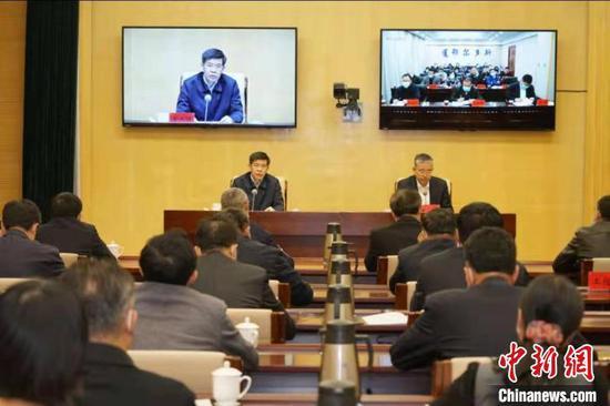 图为内蒙古商务口岸工作会议现场。内蒙古商务厅供图
