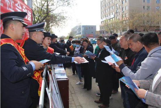 """杭锦后旗公安局""""拒绝跨境赌博""""和反诈宣传在行动"""