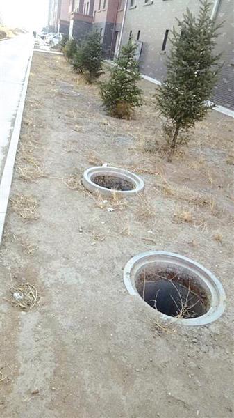 没有盖的下水井