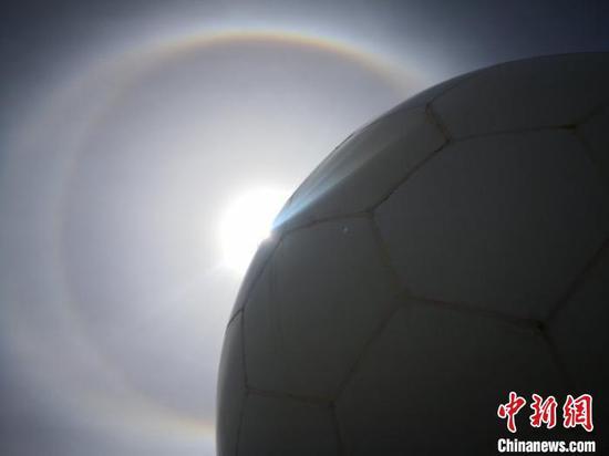 内蒙古多地出现日晕现象。气象部门供图