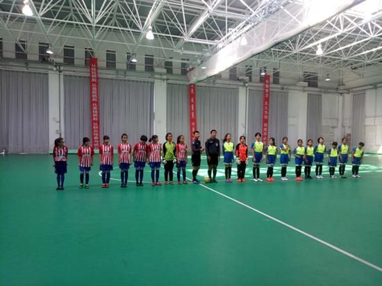 清河中心小学获得小学女子组第六名