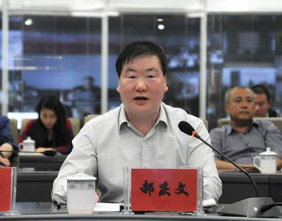 自治区环保厅副厅长郝庆文作讲话