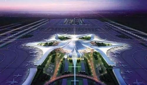 呼和浩特新建机场效果图