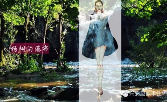 好想也要一件这样的杨树沟瀑布版夏日连衣裙
