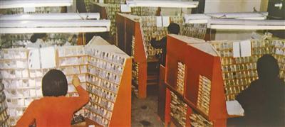 当年的铅字排版车间。