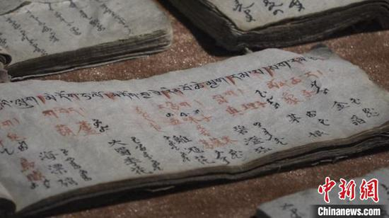 图为内蒙古民族大学博物馆蒙医药馆收藏的蒙医药相关藏品。 马知远 摄