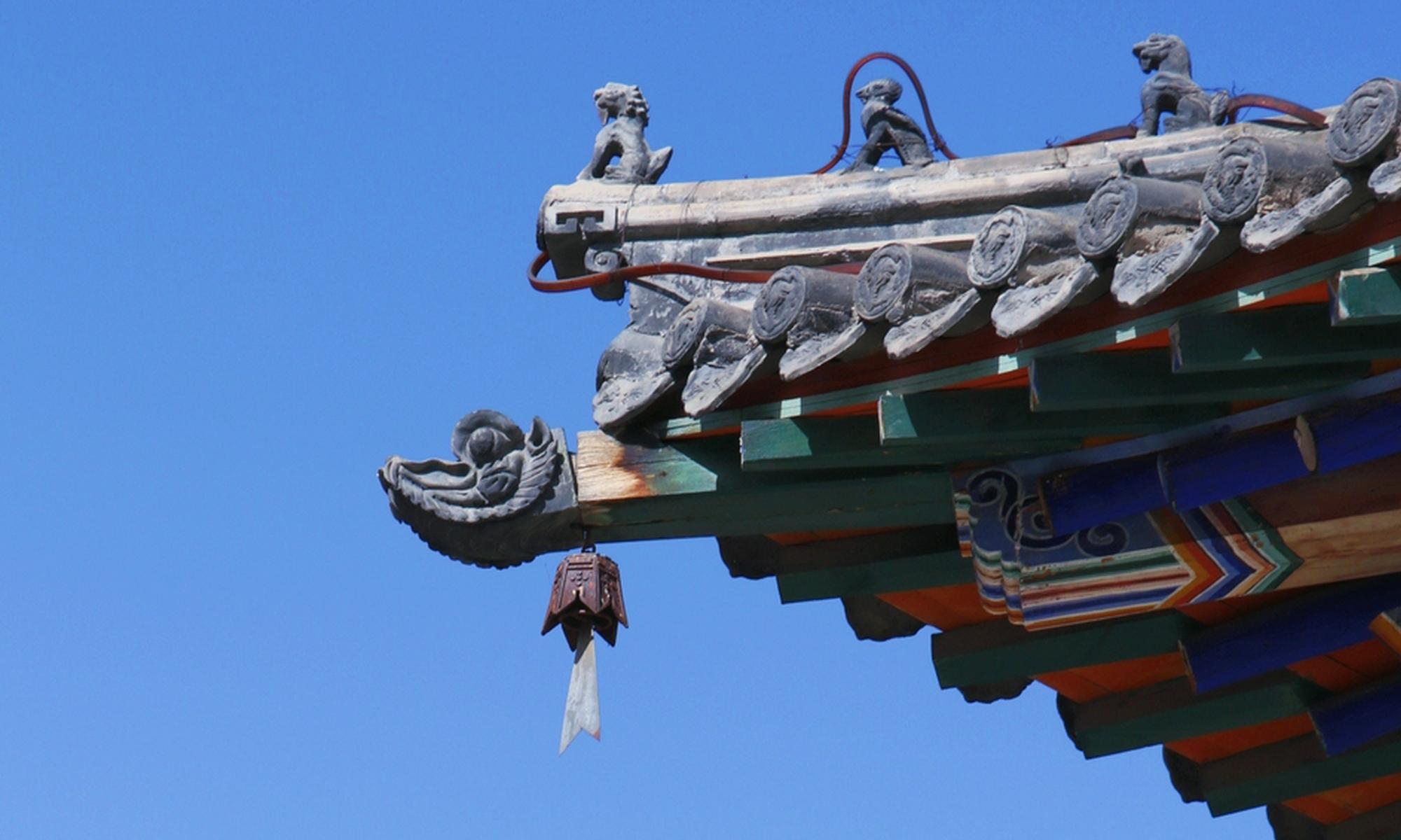 感受青城五塔寺的古色古香