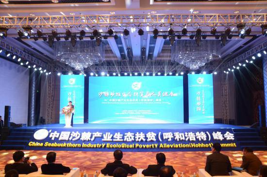 中国沙棘产业生态扶贫(呼和浩特)峰会召开