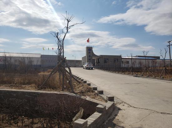 第一处案发现场,在开鲁县第二供水厂内。 新京报记者 张熙廷 摄