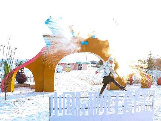 内蒙古网红打卡地之小围脖和小手套动漫主题乐园
