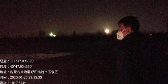 呼和浩特市夜查禁燃区内燃放  烟花爆竹、点放孔明灯、点旺火