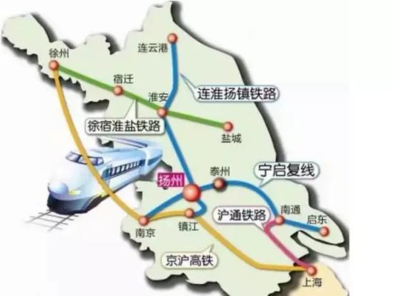 盐城到上海铁路走向则待定