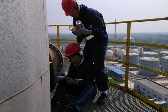 正在进行的宁夏中石油压力容器检验
