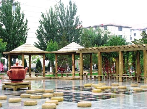 绿化美化后的社区庭院