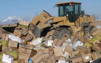 呼和浩特市集中销毁509.58万元问题食品药品
