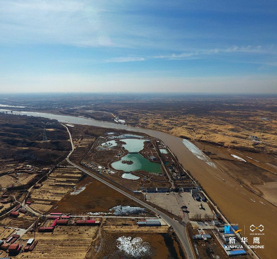 托克托是黄河上中游的分界处(新华网发 张伟摄)