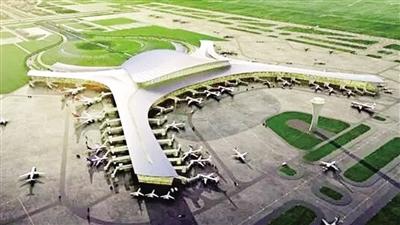 新机场航站楼空侧鸟瞰效果图
