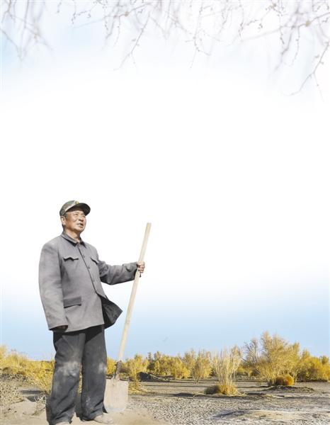 巴丹吉林沙漠西部边缘,一对花甲老人用一棵棵梭梭,筑起了一道绿色屏障,保护着家乡。