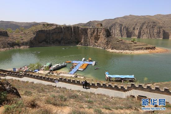 内蒙古自治区与山西省交界处的老牛湾黄河大峡谷景区