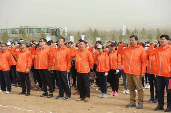 内蒙古分公司、呼和浩特分公司全体志愿者宣誓