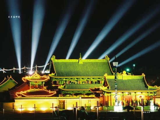贝子庙夜景
