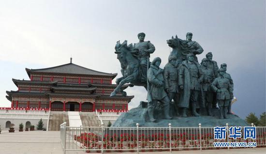 绥蒙革命纪念园(新华网刘舒 摄)