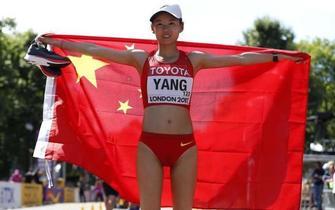 内蒙古选手杨家玉世锦赛竞走夺冠