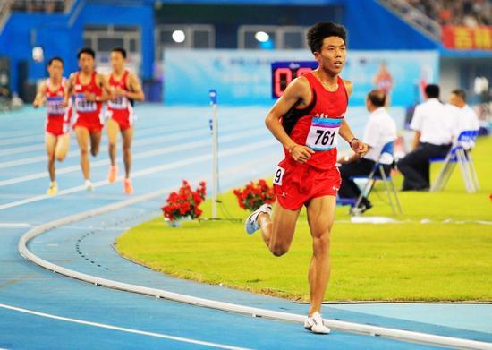 刘洪亮正在比赛中
