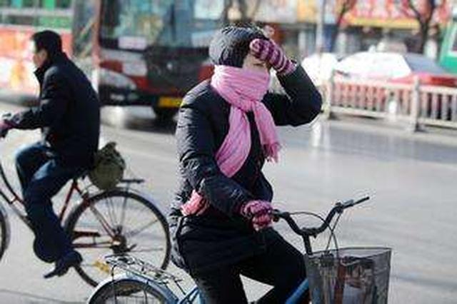 呼和浩特市出现大风天气气温略降