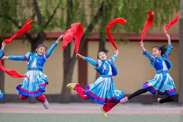 民族实验小学教育集团百什户校区:安代舞进校园