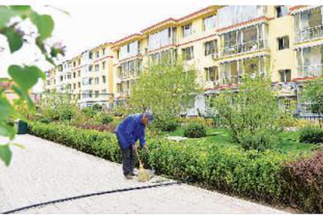 六中社区:小区环境绿莹莹 居民心里美滋滋