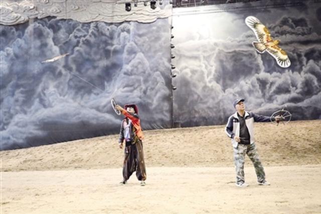 草原国际风筝节:国内外50多个团体空中竞技