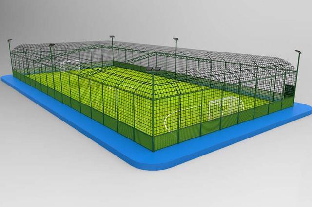 呼和浩特已建成笼式足球场604片,拥有量全国第一