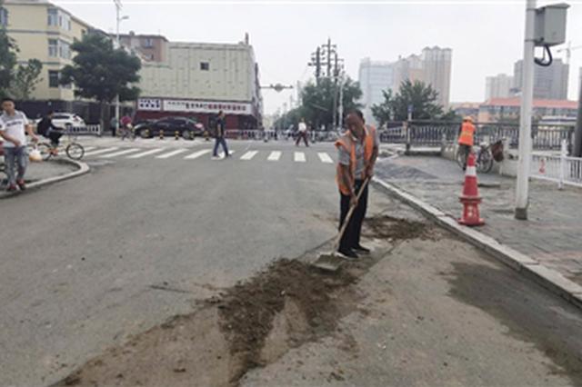 曝光回访 呼和浩特市塌陷路段大坑已回填