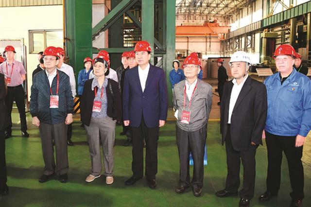 中国科学院、中国工程院院士专家在包头市参观考察