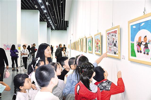 全国青少年美术作品邀请展在内蒙古美术馆开展