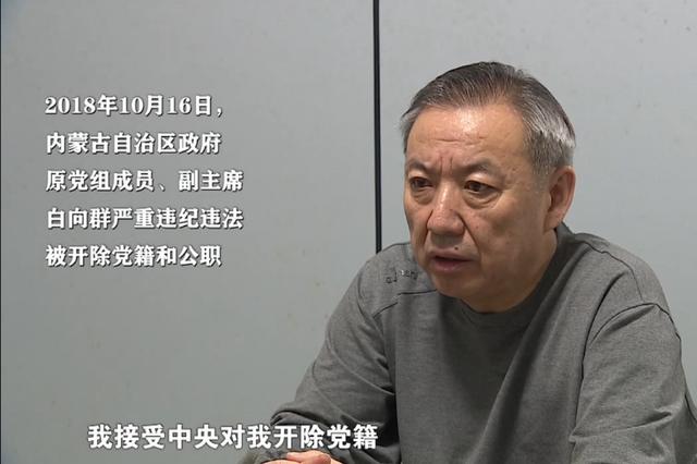 """内蒙古自治区原副主席白向群严重违纪违法被""""双开"""""""