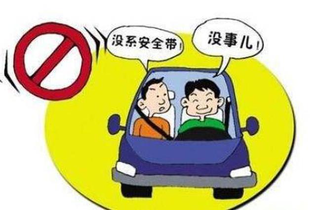 呼和浩特市1個多月查獲40463起乘車不帶安全帶行為
