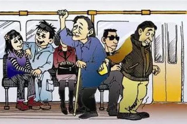 呼和浩特市:俩扒手75路公交车上被抓现行