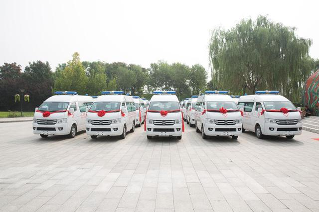 内蒙古52个贫困落后旗县获捐164辆救护车
