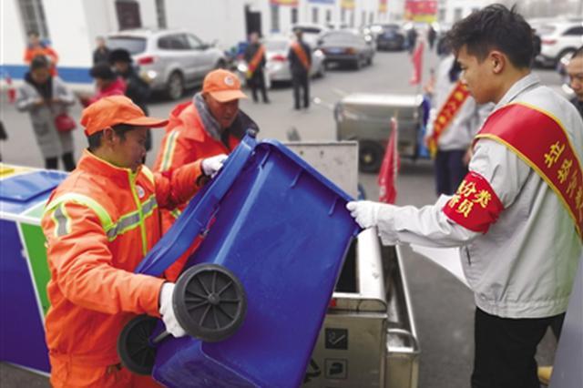 呼和浩特:分类垃圾桶常见 垃圾分类仍不规范