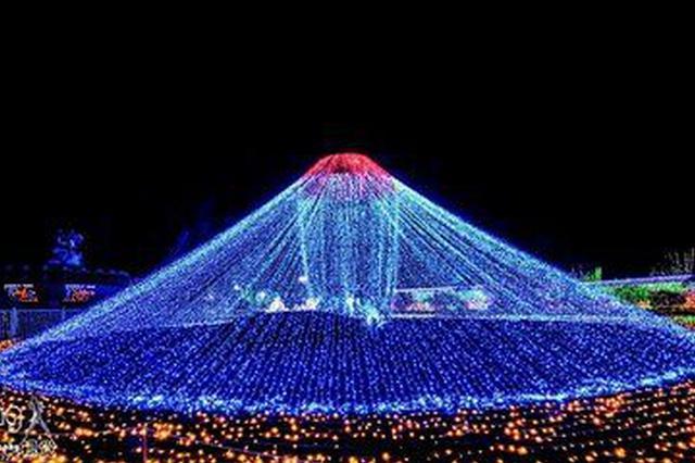 乌拉特前旗莫尼山首届灯光艺术节开启绚彩之旅