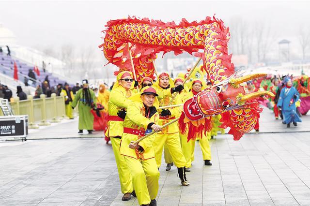 2019年呼和塔拉元宵节群众文化社火活动举行