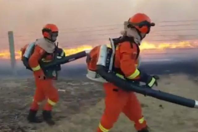 俄罗斯烧入呼伦贝尔境内草原火 明火已被扑灭