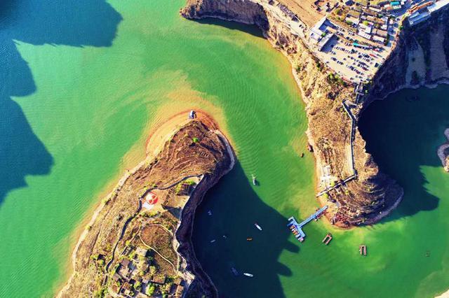 航拍老牛湾:黄河如带 风光如画