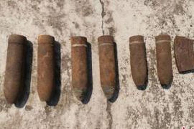 兴安盟5月份以来集中收缴一批日伪时期遗留弹药